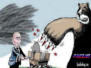 Зарубежные карикатуры и картины на Путина