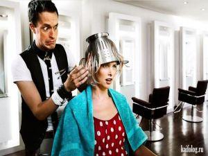 Приколы про парикмахерские, парикмахеров и прически