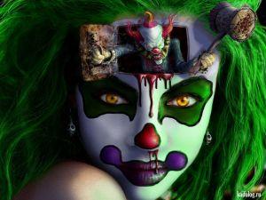Голливудские актеры в виде злых клоунов
