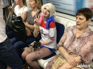Русские модники в метро