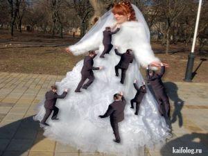 Дебильный свадебный фотошоп
