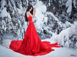 Настоящая красивая зима