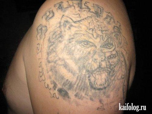 Неудачные татуировки (30 фото)