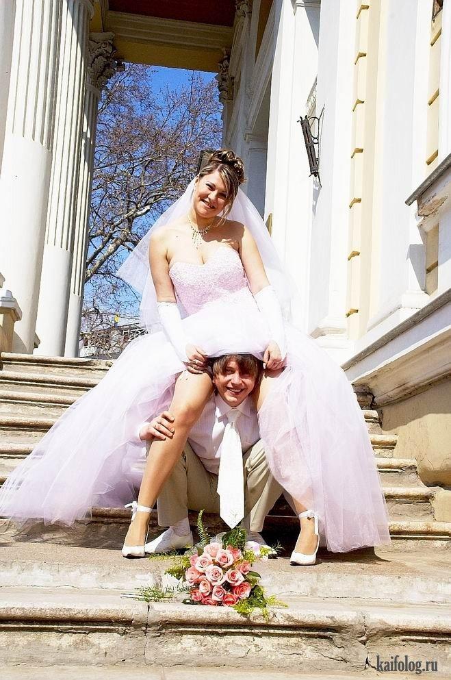 невеста жених платьем фото под