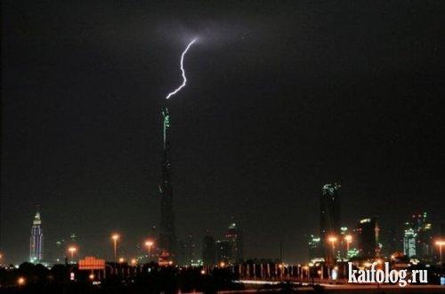 Дубай. Сильная гроза (5 фото)