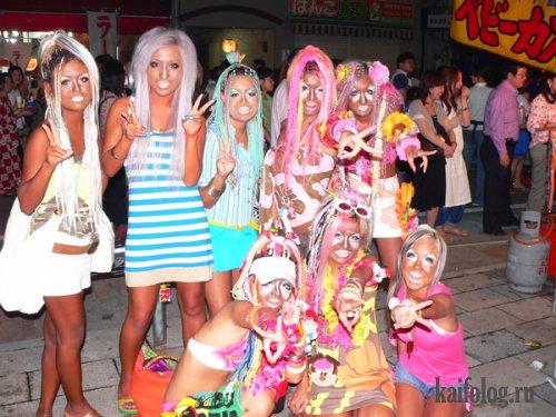 Девочки в стиле Гангуро (12 фото)
