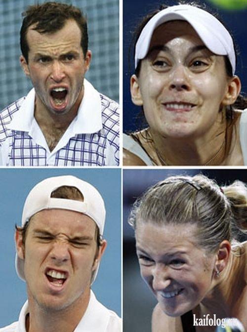Прикольные лица спортсменов (47 фото)