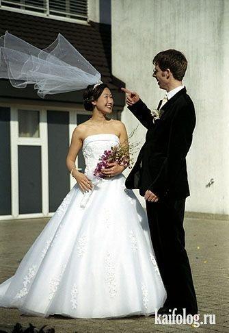 Прикольные свадебные фото (50 фото)