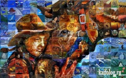 Картины, составленые из... картин (6 картин)