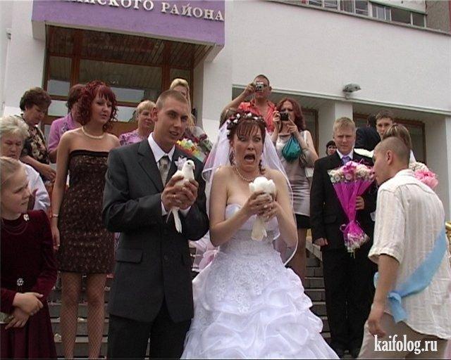 Прикольные свадьбы картинки