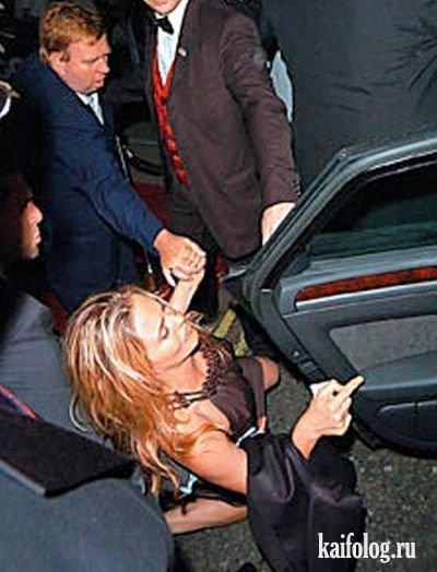 Пьяные знаменитости или звезды под синькой (29 фото)