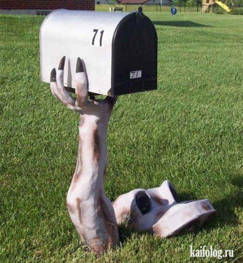 Самые нелепые почтовые ящики (32 фото)