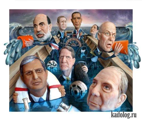 Карикатуры на звезд и знаменитостей (43 картинки)