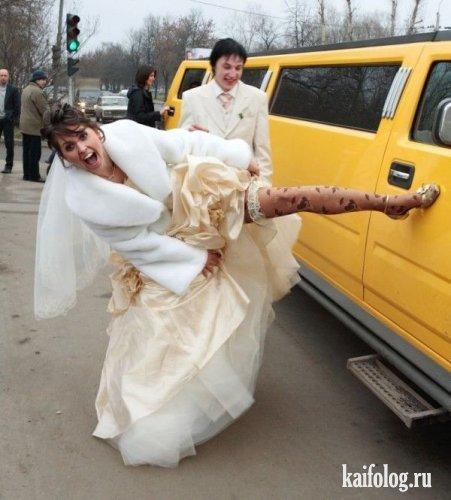 Прикольные свадебные фото 45 фото
