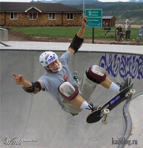 Фотожаба. Старики и спорт (30 фото)