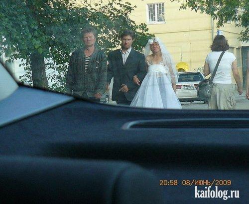 Прикольные свадебные фото (45 фото)