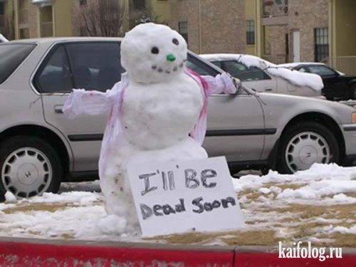 Прикольные снеговики (50 фото)