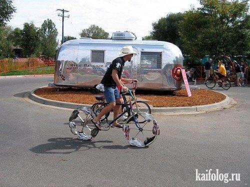 Нелепые велосипедисты (35 фото)