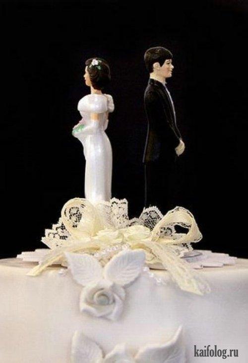 Торты для разводов (21 фото)