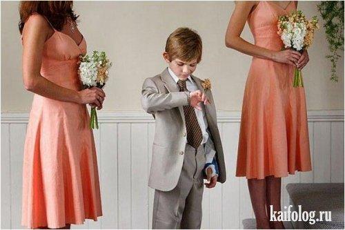 Прикольные свадебные фото (42 фото)