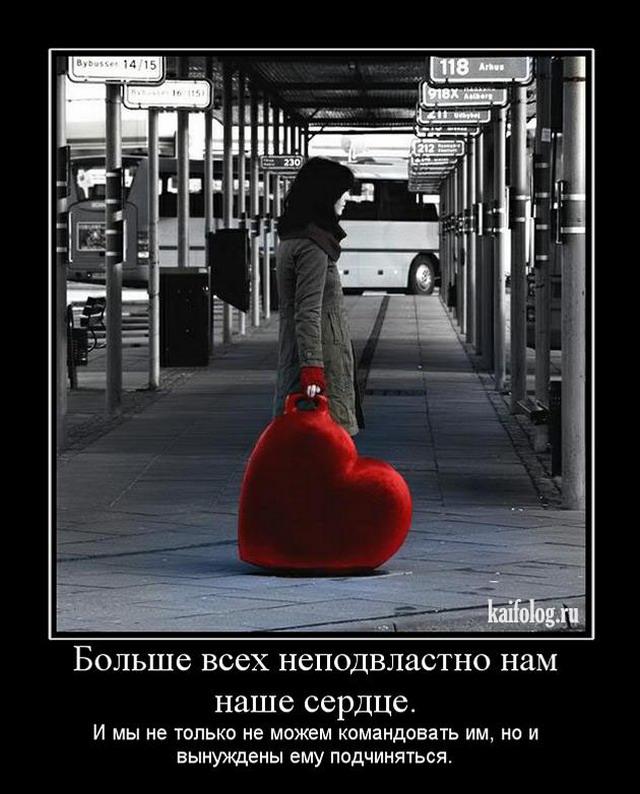 Любовь и боль демотиваторы
