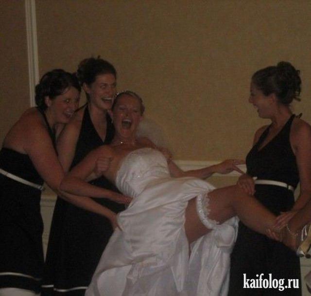 Невесты подшофе (33 фото)