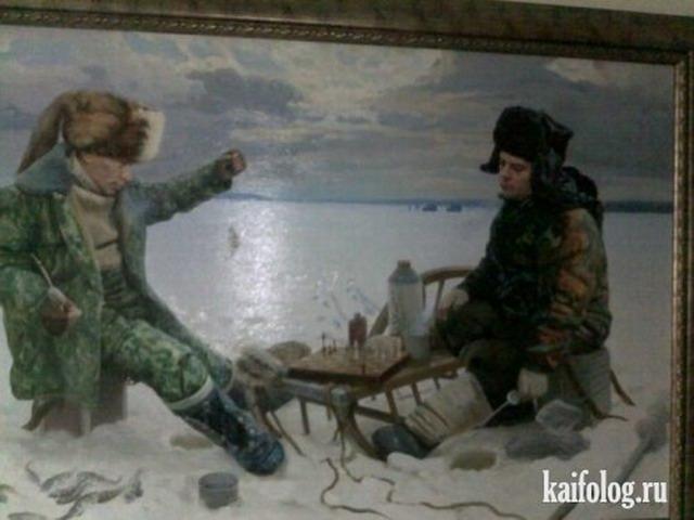 Картины Медвепута в московской больничке (6 фото)