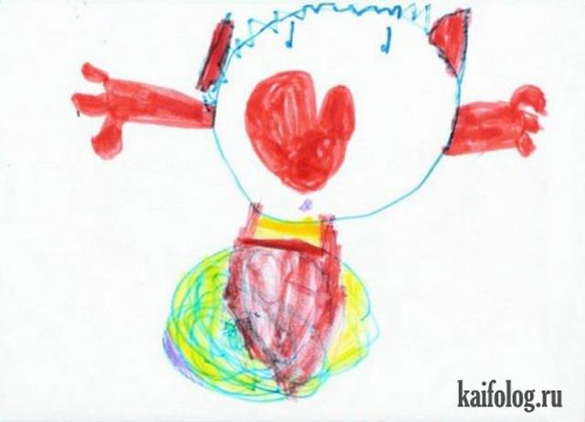 Детские рисунки и фотошоп (21 картинка)