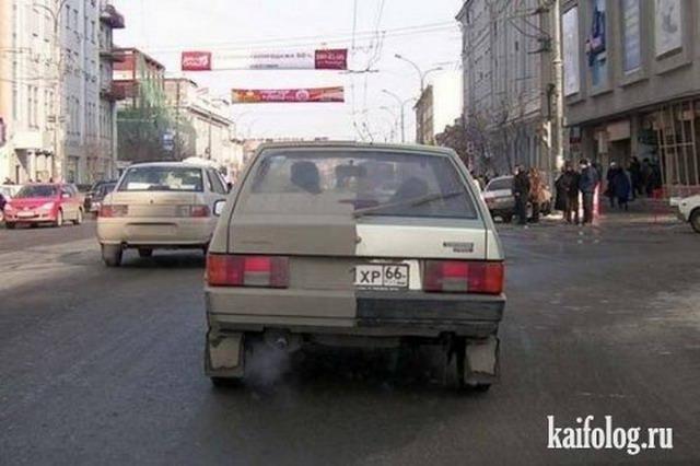 Чисто русские автоприколы (65 фото)
