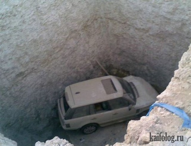 Прикольные авто аварии (45 фото)