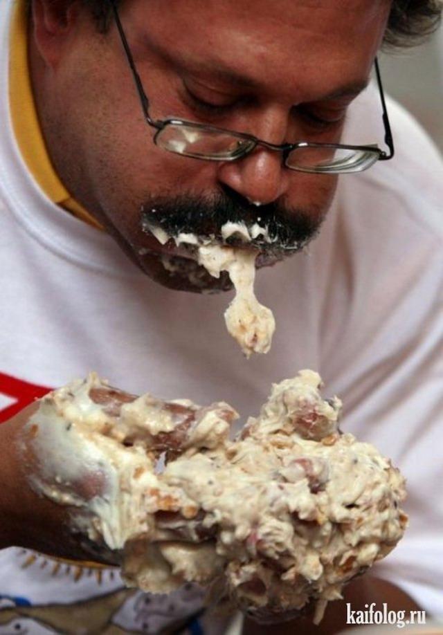 Время обедать или скоростное поедание (35 фото)