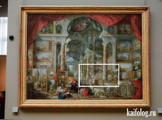Оптические открытия на картинах (5 фото)