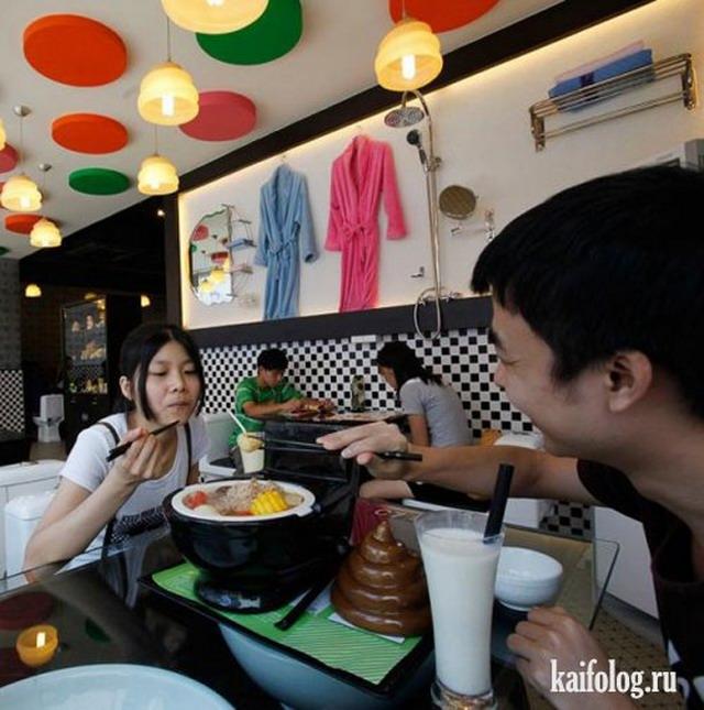 Самый сортирный ресторан (10 фото)