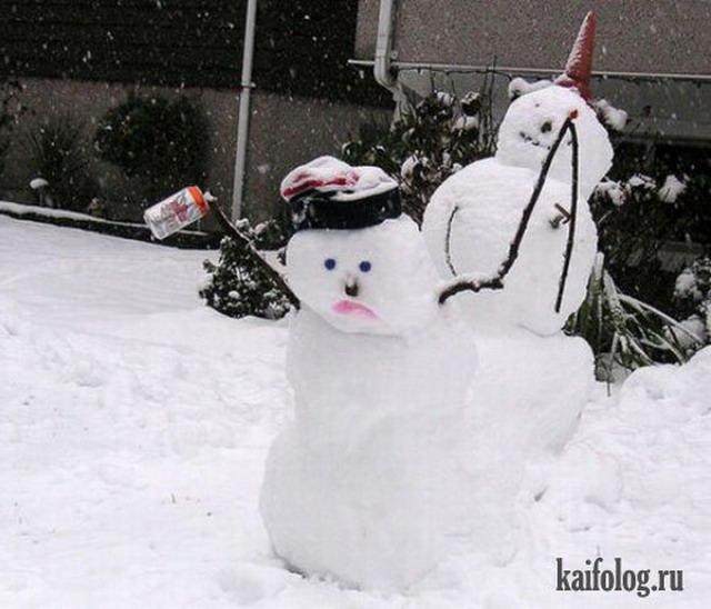 Пьяные снеговики (25 фото)