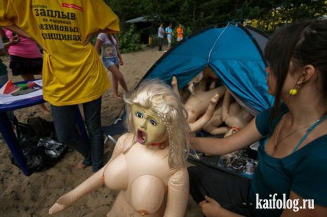 Сплав на надувных женщинах (20 фото)