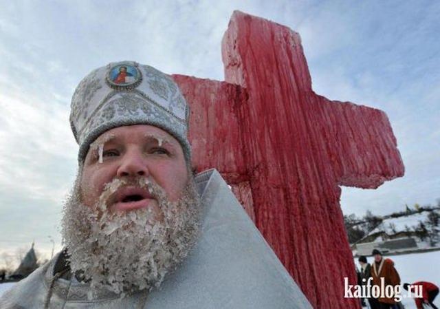 Купания на Крещение по-русски (30 фото)