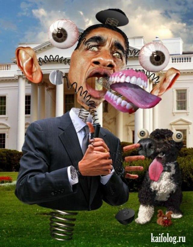 Карикатуры на Барака Обаму (10 картинок)