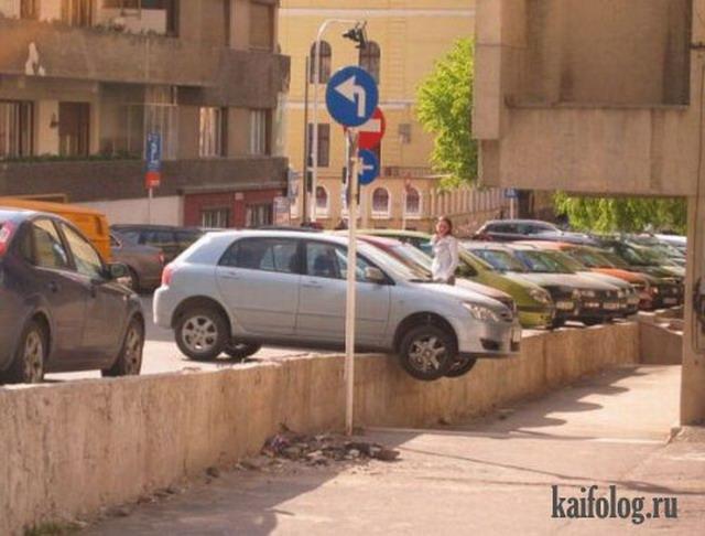 Нелепые аварии (35 фото)