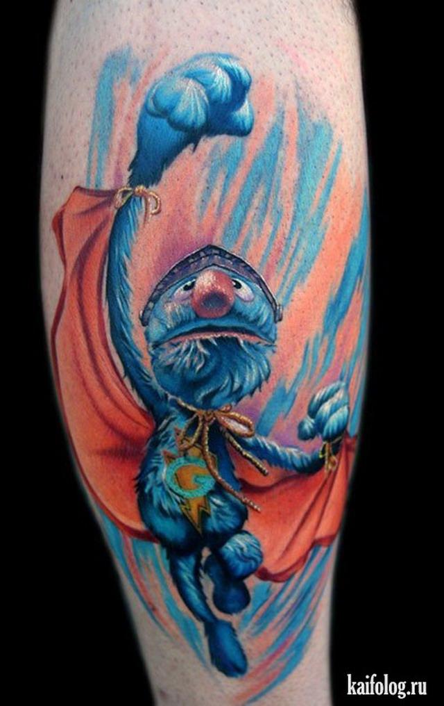 Прикольные татуировки (35 фото)