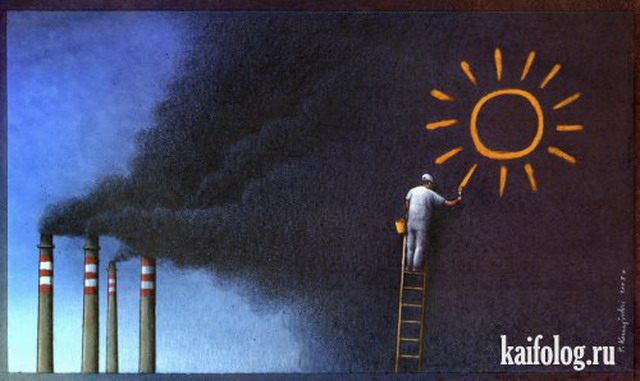 Философская сатира Павла Кучинского (35 рисунков)