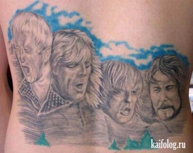Прикольные равным образом нелепые тату (40 фото)