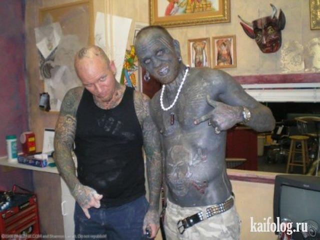 Прикольные и нелепые тату (40 фото)