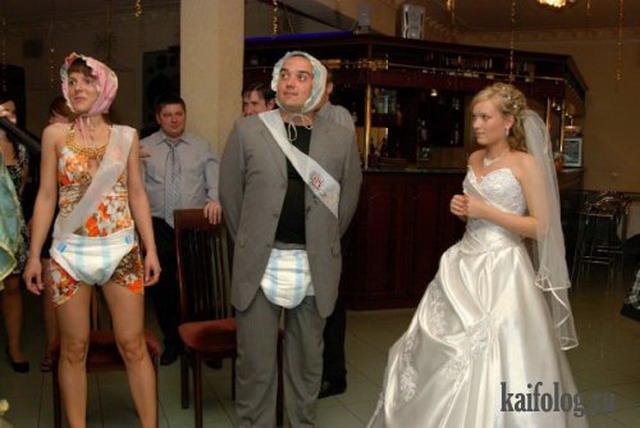 Свадьба конкурс с подгузниками