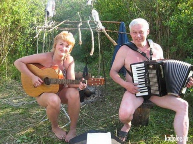 Отдых на природе по-русски (45 фото + видео)