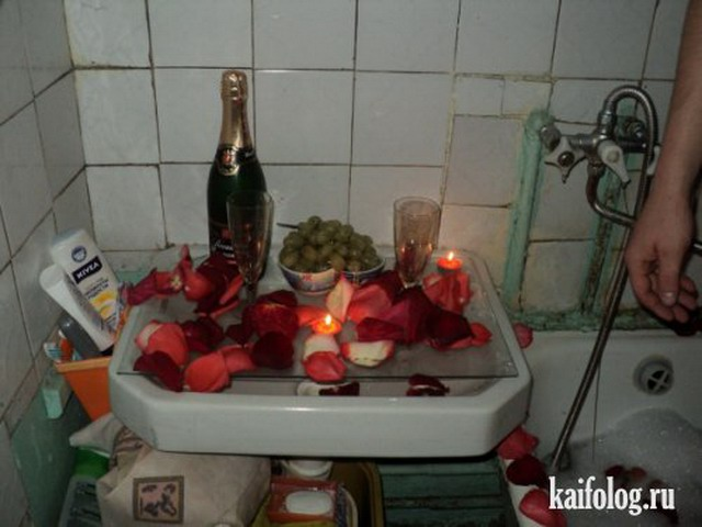 Бытовая романтика (4 фото + 7 фотожаб)