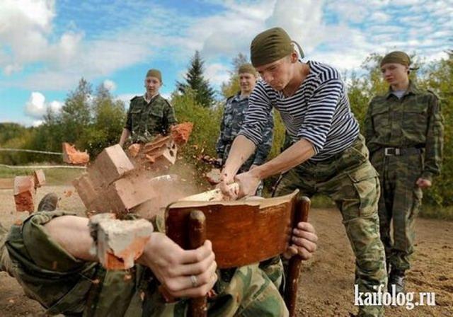 Приколы и маразмы армии (50 фото + видео)
