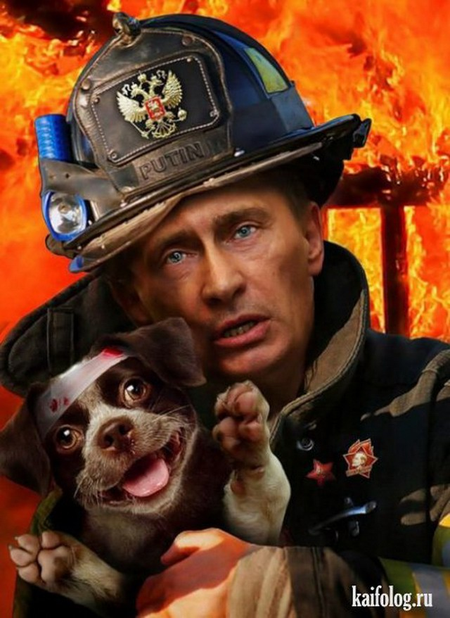 Фотожабы на Путина (15 фото)