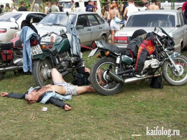 Приколы про байкеров (38 фото)