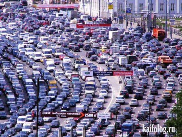 О чем говорят водители в пробках (55 фото)