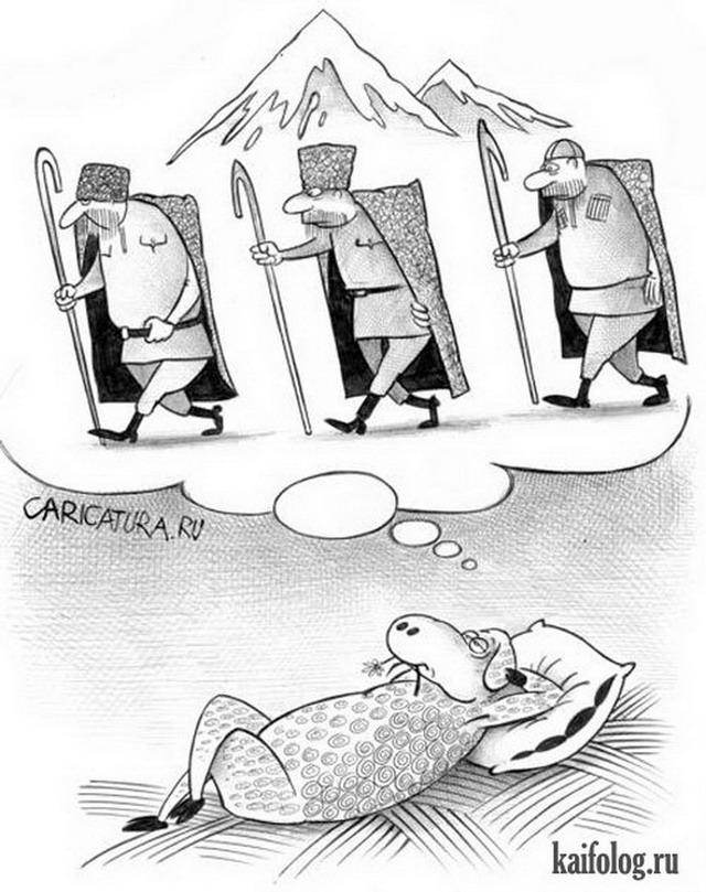Прикольные карикатуры (45 картинок)